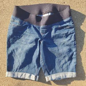 Great Expectation Maternity Jean Shorts Sz 8-10